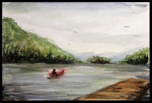 Lac Ouareau - Watercolour
